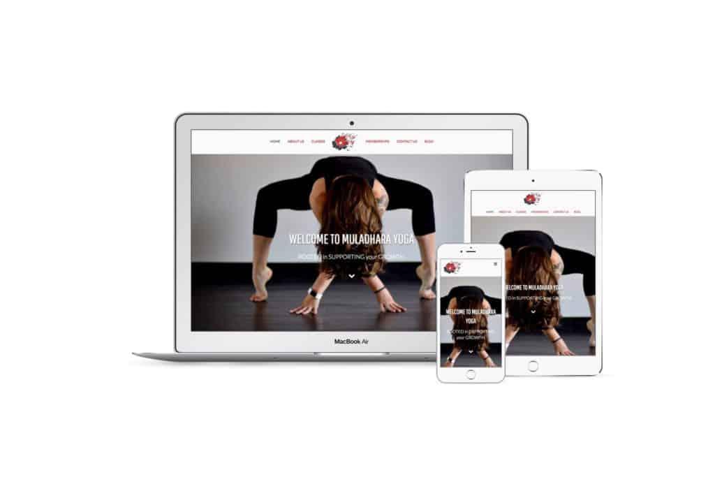 Muladhara Yoga Studio responsive mockup